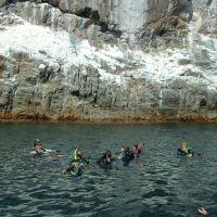 Buzos en Isla San Pedro en San Carlos, Guaymas, Хероика-Ногалес