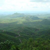 Valle de Tecoripa desde la sierra San Javier, Хероика-Ногалес