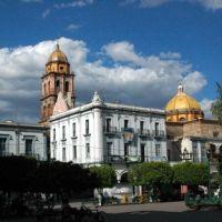 Plaza principal e Iglesia. Ameca, Jalisco, Амека
