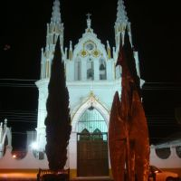 Templo de San José nocturno, Комитан (де Домингес)