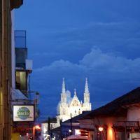 Tejados e Iglesia de San José en Comitán, Chiapas., Комитан (де Домингес)