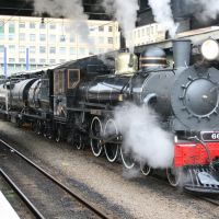 Mainline Steam Special leaving Wellington Station enroute for Auckland, Ловер-Хатт