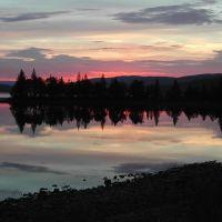 Solnedgang over Laksjøen, Боде