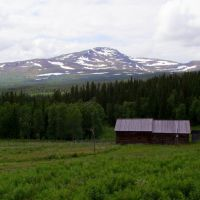 Åreskutan seen from the Fröå mine., Боде