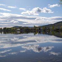 Skyet himmel i dalen av Drammenselva, Драммен