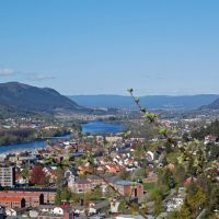 Looking West over Drammenselva, Драммен