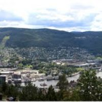 Bragernes Viewpoint, panoramic view of Drammen, Драммен