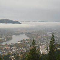 Drammen from the top of Spiralen, Драммен