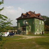 Bogatynia, Ostatni dom za wałem (widok od tyłu), Богатыня
