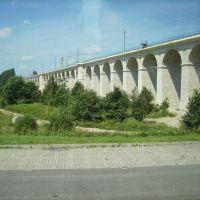 Eisenbahnbrücke in Boleslawiec, früher  Bunzlau, Болеславец