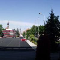 Bolesławiec - parking przy Starostwie Powiatowym i Kinie Forum, Болеславец
