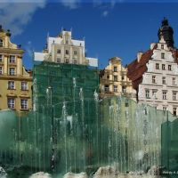 The fountain on the market., Вроцлав
