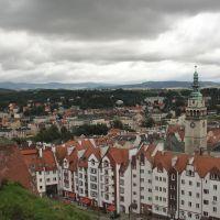 Krajobraz miejski z Twierdzy Kłodzkiej, Клодзко