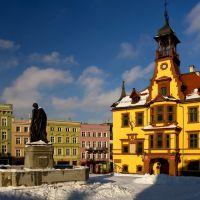 noworudzki rynek zimą, Нова-Руда