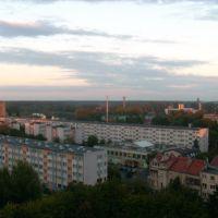 Oława, Panorama, Rynek za plecami, Олава