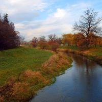 Rzeka Oława jesienią, Олава