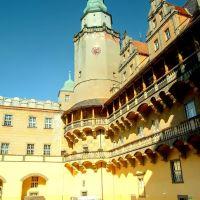Dziedziniec i wieża zamku w Oleśnicy (sm), Олесница