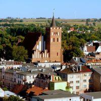 Brodnica, Polska. Widok  miasta  z  wieży  zamkowej, Бродница