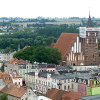 Brodnica widziana z wieży dawnego zamku, Бродница