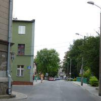 Brodnica -  ul Kościelna w głębi mostek, Бродница