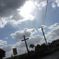 Łążyn - krzyż przydrożny, Грудзядзь