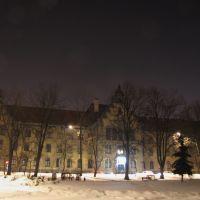 Inowrocław - skwer Obrońców Inowrocławia i budynek Sądu Rejonowego z1901r przy ul. G. Narutowicza, Иновроцлав