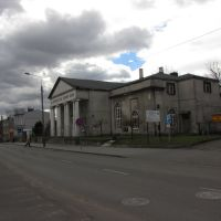 """Inowrocław - ul. Szymborska , budynek organizacji sportowej założonej w 1884 roku pod nazwą"""" Sokolnia"""", Иновроцлав"""