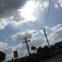 Łążyn - krzyż przydrożny, Свечье