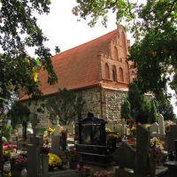 Bierzgłowo - Kościół p.w. Wniebowzięcia NMP.Kościół wybudowany został około 1300 roku., Свечье