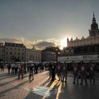 Kraków - rynek - sunset, Краков