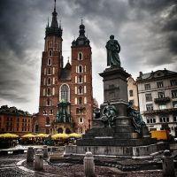 HDR - Rynek w Krakowie; The Main Market Square in Kraków, The Main Square, Краков