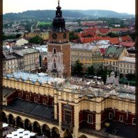 CRACOW-VIEW FROM THE TOP OF MARIACKI CHURCH, Краков
