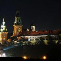 Kraków  - Wawel wieczorową porą   -   kp, Краков (обс. Форт Скала)