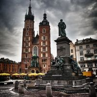 HDR - Rynek w Krakowie; The Main Market Square in Kraków, The Main Square, Краков (обс. Форт Скала)