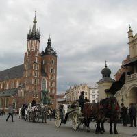 The Main Square, Kraków / Rynek Główny w Krakowie / Krakkó főtere / Piaţa principală din Cracovia (Foto: Anton Bacea), Краков (ш. им. Нарутауича)