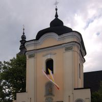 Nowy Targ. The gate. Saint Catherine of Alexandria church. Kościół Sw. Katarzyny., Новы-Тарг