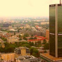 Panorama z 30-ego piętra Pałacu Kultury i Nauki., Варшава
