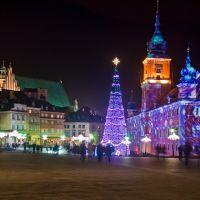 Warszawa w świątecznej scenerii 2012r. - Plac Zamkowy, Варшава