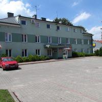 Wołomin,dawny szpital w Wołominie wybudowany w latach 50,a obecnie jeden z budynków Starostwa Powiatowego., Воломин
