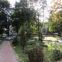 podwórko na osiedlu, Воломин