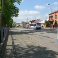 Kozienice widok na dworzec PKS, Козенице