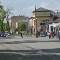 Kozienice widok na dworzec PKS + skrzyżowanie, Козенице