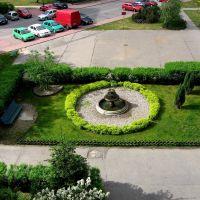 Legionowo / Poland - Fontanna na osiedlu-Fountain at housing estate, Легионово