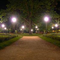 Mława - Park nocą, Млава