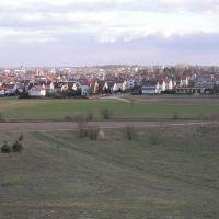 Widok z Łysej Góry - ul. podborna - teraz biegnie tędy Al. Marszałkowska, Млава