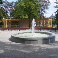 Estrada wraz z fontanną w Parku Miejskim, Млава