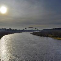 Widok na Narew i most Madalinskiego, Остролека