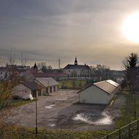 Widok na Kościół Nawiedzenia Najświętszej Maryi Panny w Ostrołęce, Остролека