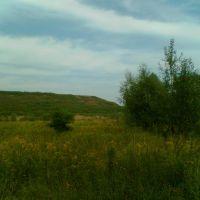 Marki - widok na górkę z ul.Okólnej - dawne wysypisko śmieci, Прушков