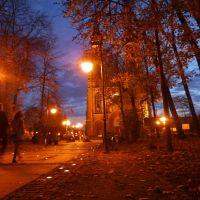 RADOM - Park Kościuszki - widok na Katedrę Opieki NMP, Радом